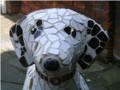Doodle Mosaic Dog Sculpture by Sue Edkins