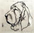 Bloodhound Print by Ian Mason