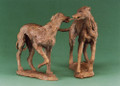 Dancing Dogs Sculpture by Rosemary Cook