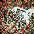 Jackson Pollock's Dog by Mychael Barratt LAST ONE!