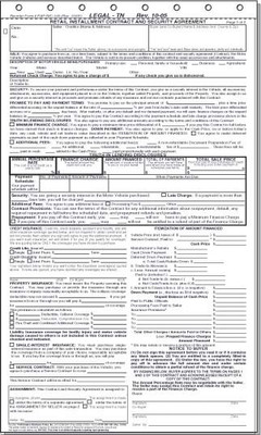 Retail installment contract us autoforms for Retail installment contract motor vehicle