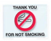 No Smoking Static Cling - 250 ct.
