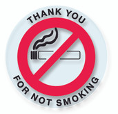 No Smoking Stickers Clear - 250 ct