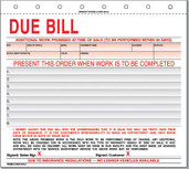 Due Bill-Imprinted