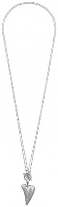 Pilgrim  2 Way Funky Heart Necklace Silver Plated
