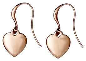 Pilgrim Rose Gold Plated Heart Drop Earrings