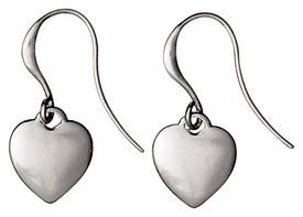 Pilgrim Silver Plated Heart Drop Earrings