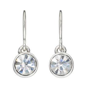 Pilgrim Silver Plated Crystal Drop Earrings