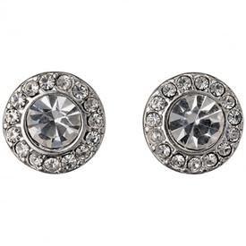 Pilgrim Stud Earrings Silver Plated Crystal 60133-6063