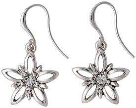 Pilgrim Divine Flower Drop Earrings Silver Plated 17133-6013