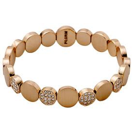 Pilgrim Crystal Stones Bracelet Rose Gold Plated Crystal 601634062