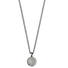 Pilgrim Crystal Stones Necklace Silver  Plated Crystal 40cm + 9cm 601636051