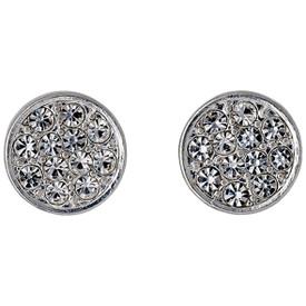 Pilgrim Crystal Stones Stud Earrings Silver Plated Crystal 611636003