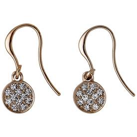 Pilgrim Crystal Stones Drop Earrings Rose Gold Plated Crystal 621634053