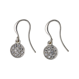Pilgrim Crystal Stones Drop Earrings Silver Plated Crystal 621636053