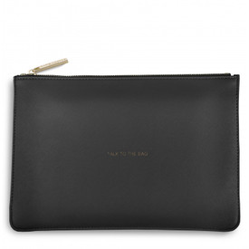 Katie Loxton 'Talk To The Bag' Perfect Pouch/Clutch Bag Charcoal Grey
