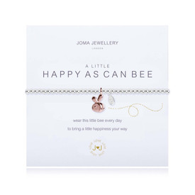 Joma A Little Happy As Can Bee  Bracelet Silver Bracelet with Rose Gold Heart