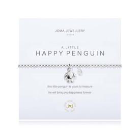 Joma Girls A Little Happy Penguin Bracelet Silver Bracelet