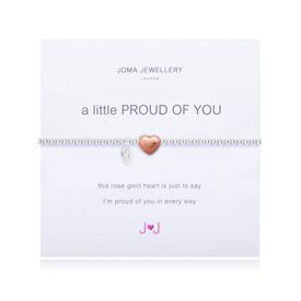 Joma A Little Proud of You Bracelet Silver Bracelet with Rose Gold Heart
