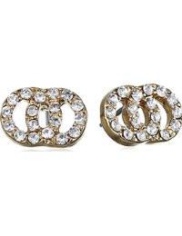 Pilgrim Stud Earrings Rose Gold Plated Crystal 60151-4053