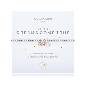 Joma Jewellery A Little Dreams Come True Silver Plated Bracelet + Rose Gold Sparkling Stars + Gift Bag