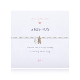 Joma Girls A Little Hug Bracelet Silver Bracelet + Gold Teddy Charm