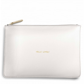 Katie Loxton 'Hello Lovely' Perfect Pouch/Clutch Bag White