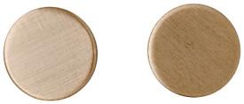Pilgrim Round Stud Earrings Rose Gold Plated 281614043
