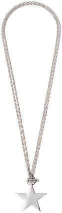 Pilgrim Chunky Star Necklace Silver Plated 2 In 1 45cm/90cm 601336041