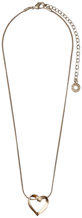 Pilgrim Classic Heart Necklace Rose Gold Plated 60151-4061 40cm