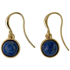 Pilgrim Worthy Drop Earrings Gold Plated Blue 161642213