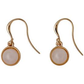 Pilgrim Worthy Drop Earrings Rose Gold Plated Rose 161644313