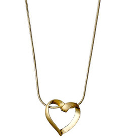 Pilgrim Classic Heart Necklace Gold Plated 60151-2061 40cm
