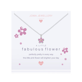 Joma Jewellery Childrens/Girls A little Fabulous Flower Necklace + Bag/Tag