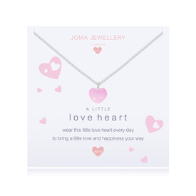 Joma Jewellery Childrens/Girls A little Love Heart Necklace + Bag/Tag