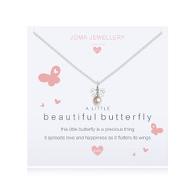 Joma Jewellery Childrens/Girls A little Beautiful Butterfly Necklace + Bag/Tag