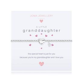 Joma Jewellery Childrens/Girls A little Granddaughter Bracelet + Bag/Tag