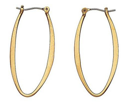 Pilgrim Elongated Creole Hoop Earrings Gold Plated 483503