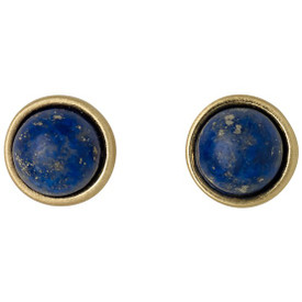 Pilgrim Worthy Stud Earrings Gold Plated Blue 161642203