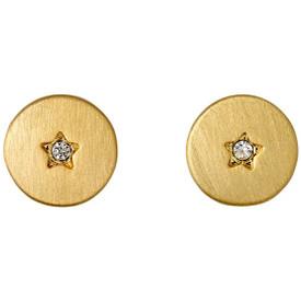 Pilgrim Stud Earrings Gold Plated Crystal 261642033
