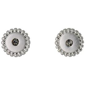 Pilgrim Rapsody Stud Earrings Silver Plated Crystal 241646103