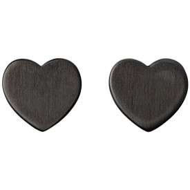 Pilgrim Heart Stud Earrings Hematite Plated  601613073