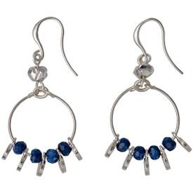 Pilgrim Substance Drop Earrings Silver Plated Blue 211636213