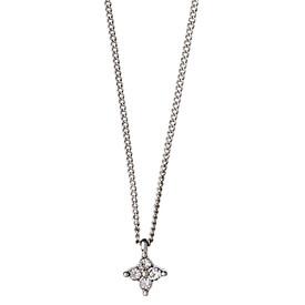 Pilgrim Curiousity Necklace Silver Plated Crystal 40cm + 9cm  181646001