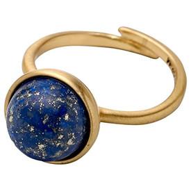 Pilgrim Worthy  Adjustable Ring Gold Plated Blue 161642204