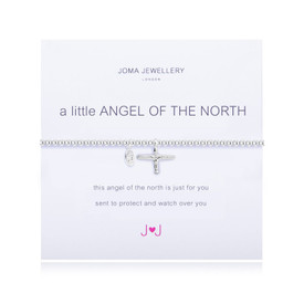 Joma Jewellery A Little Angel of the North Silver Plated  Bracelet + Gift Bag/Tag