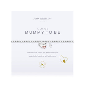 Joma Jewellery A Little Mummy To be Silver & Rose Gold Plated Bracelet