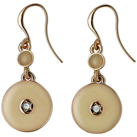 Pilgrim Tradition  Drop Earrings Rose Gold Plated Cream 251644013