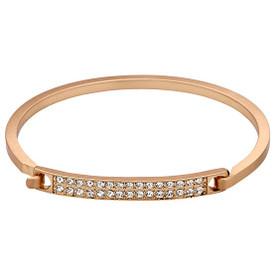 Pilgrim Bracelet Rose Gold Plated Crystal 601614042