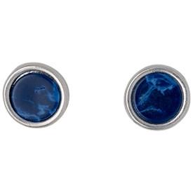 Pilgrim Trusty Stud Earrings Silver Plated Blue 221636203